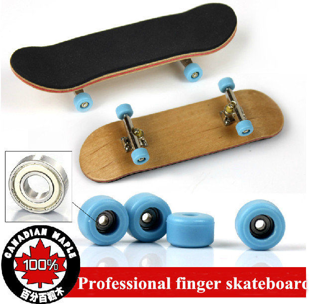 Profissional rolamento de roda de liga de níquel dedo skate de madeira de bordo Fingerboard adulto novidade brinquedos(China (Mainland))