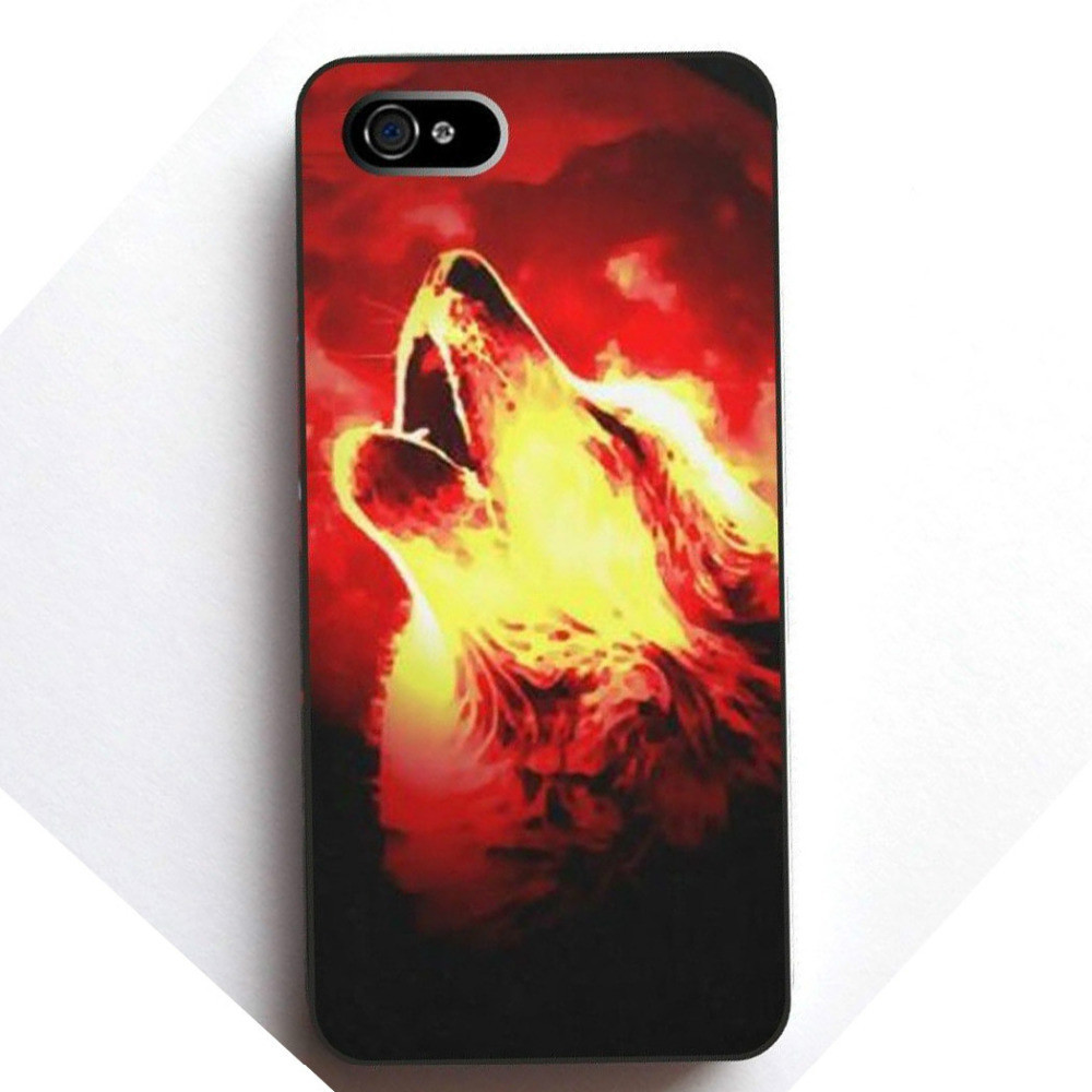 Animal-Wolf-Roar-Case-for-Iphone-4-4S-5-5S-5C-6-Plus-for