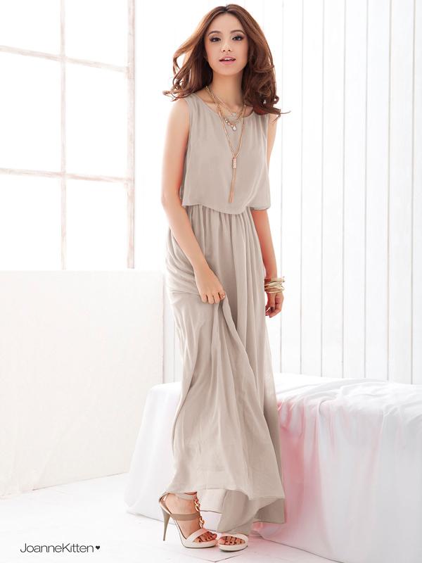 Plus Size XXL Clothing 2015 New Summer Chiffon Maxi Dress Fashion Women's Bohenmia Sleeveless Long Vest Dress Femininos Vestidos