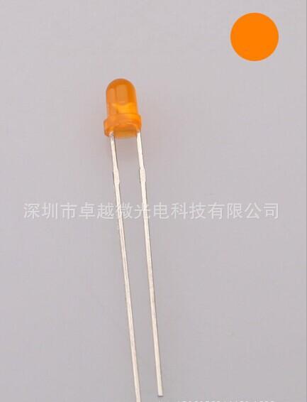 DIP 5MM / F5 ultra bright orange hair orange F5 round orange light emitting diode LED backlight(China (Mainland))