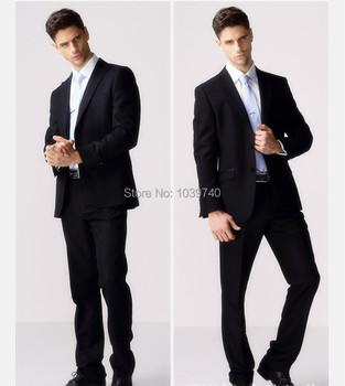 Мужчины в одежда костюмы весна и осень вилочная часть костюм черный серый мужчины костюмы бизнес костюмы куртка брюки