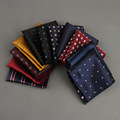 Solid Color White Handkerchief for Men's Formal Wear Business Chest Towel Hanky Cotton Grooms Wedding Pocket Square Hankies