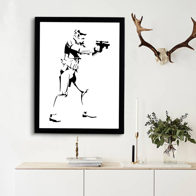 Canvas Paintings Wall Art Movie Poster , Star Wars Print Art, Kids Room Art Home Decor , Frame Not included(China (Mainland))