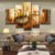 Newest Modern Oil Painting on Canvas ,Wall Art ,100% Hand Painted Oil Painting  5 Panels one set JYJLV146