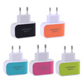 Candy Color 5V 3 1A US EU Plug 3 Ports USB Wall Home Travel AC Charger