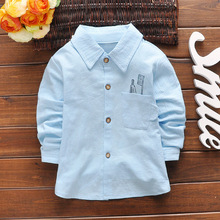 Children's Llong Sleeve Shirt Boy's Toothbrush Shirt 2016 Spring of The New Children's Clothing Baby Cotton Blouse