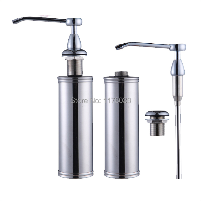 kitchen sink soap dispenser pump,stainless steel and ABS foam hand soap dispensers bottle,Free Shipping J15326(China (Mainland))