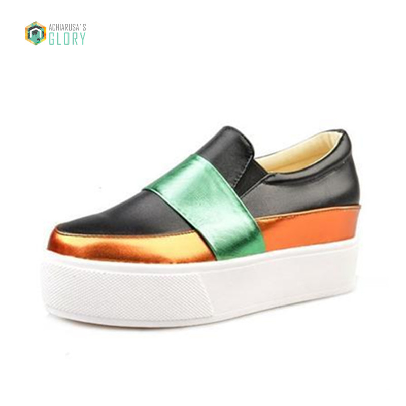 2016 new casual loafer shoes fashion sequin thick
