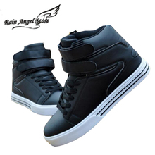 Shoes Hip Hop Men Shoes British Style High Tops White Korean Fashion Casual Shoes Lace-up Sapatos Masculinos