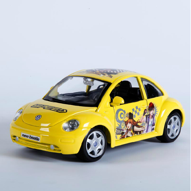 Maisto QQ Speed 1:24 alloy car model toy car Beetle car model mini bus collection gift(China (Mainland))