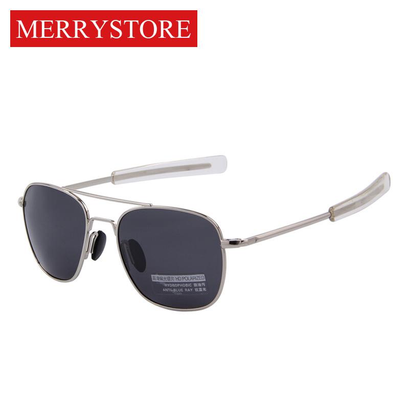 2015 New Army MILITARY AO Aviator Sunglasses American Optical Glass Lense Alloy Frame Quality Polarized Sunglasses Oculos De Sol(China (Mainland))