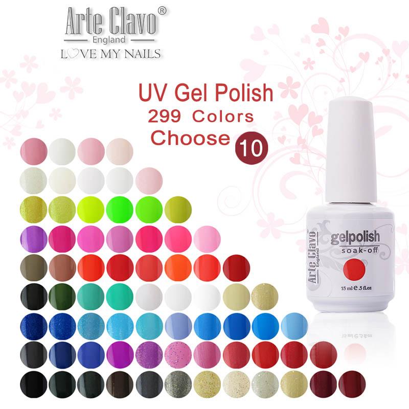 Gelpolish Arte Clavo 299 Colors Choose 10 Pieces 15ml Nail Art Led UV Gel Soak Polish - Beauteful store