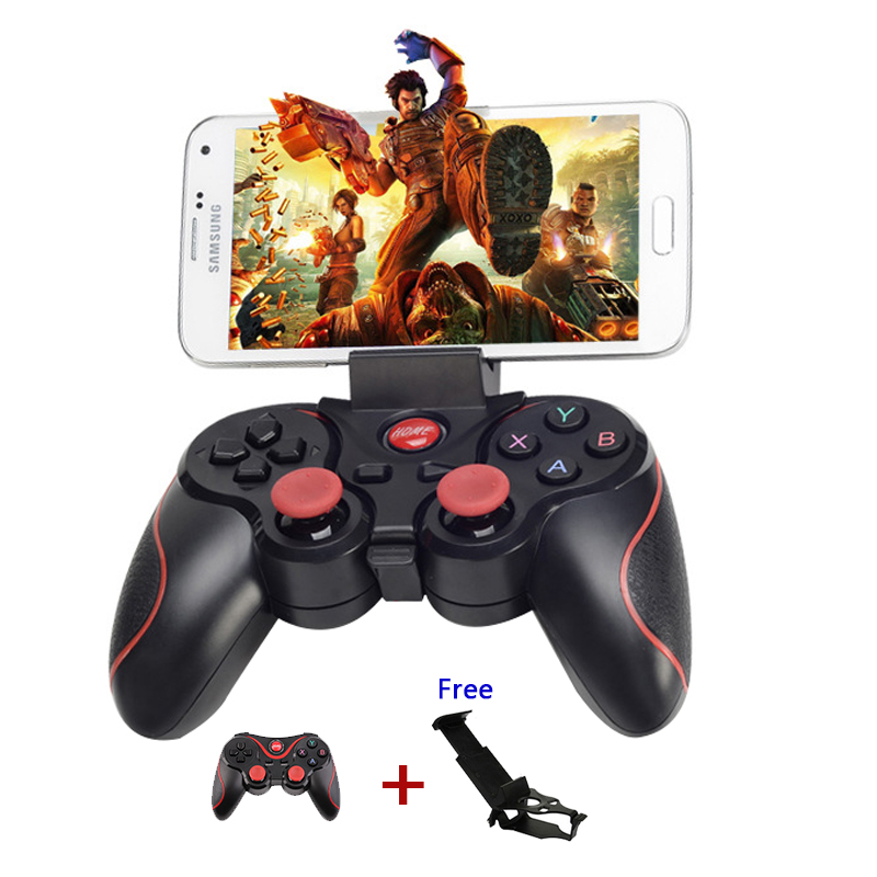 Smartphone Game Controller Wireless Bluetooth Phone Gamepad Joystick for Android Pad Tablet PC TV BOX With Mobile Holder 1056(China (Mainland))