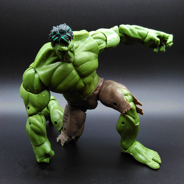 1pcs HULK Avengers2 II Captain America 3 Green MAN Super Hero Movable Marvel PVC 26cm Model