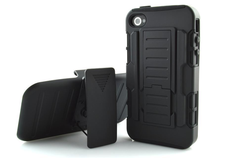 For iPhone 4s Shockproof Case For Apple iPhone 4 4s Belt Clip Holster Case PC+Silicone Video Holder Outdoor Case For iPhone 4s(China (Mainland))