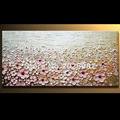 Hand Painted Landscape Prairie Blooms Pictures Palette Knife Textured Oil Painting Canvas Wall Living Room Fine