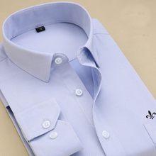 DUDALINA 2019 Mannen Shirt Plus Size Pocket Lange Mouwen Klassieke Mannelijke Shirts Formele Zakelijke Shirt Man Borduren Logo S-9XL(China)