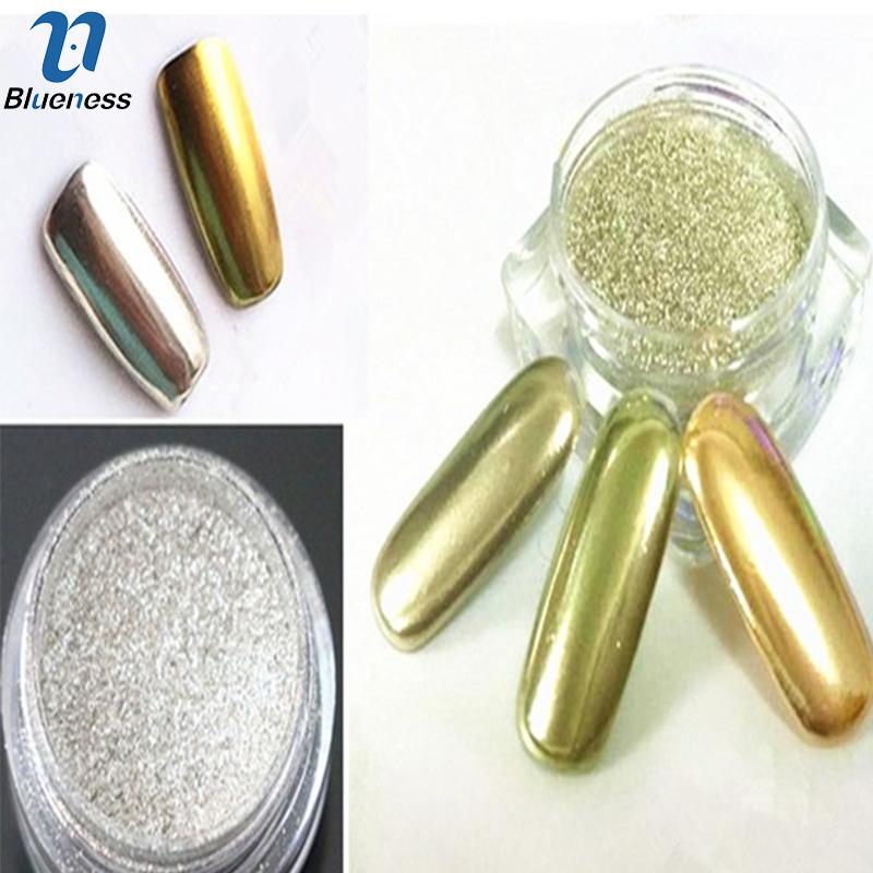 1g/Box 3D Gold Sliver Colors Choice Nail Art Mirror Powder Manicure Chrome Powder Pigment Nail Glitter Dust JH420