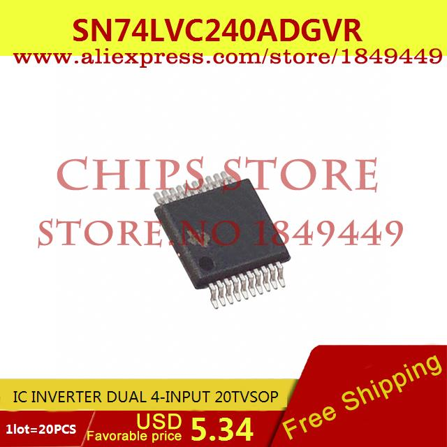 Free Shipping IC Integrated Circuit SN74LVC240ADGVR IC INVERTER DUAL 4-INPUT 20TVSOP LVC240 74LVC240 20pcs(China (Mainland))