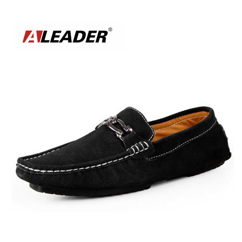 Mens Loafers Leather Casual Shoes 2015 Spring Summer Slip Driving Man Fashion Boat Moccasins mocasines hombre - Aleader Brand Flagship Store store