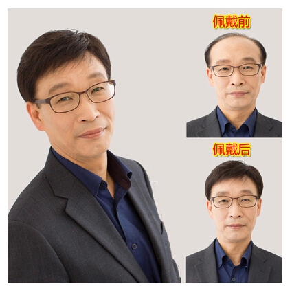 Middle-aged and old wig men wig male hair hair old man male hair wigs dad high temperature wire