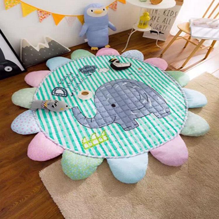 sun flowers cotton pad room decorative children crawling carpet pad game mat baby blanket play aden anais cartoon muslin swaddle