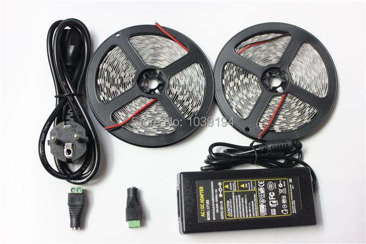 Strip Lights Vs Rope Lights : 10 meter Ip20 non waterproof led strip light 5050 single color led rope+ 1 pcs 12V 5ATransformer ...