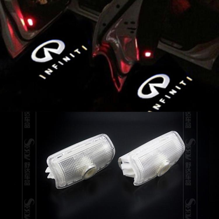 Гаджет  No Drilling LED Courtesy Logo Lights Laser Ghost Shadow Projectors For Infiniti  EX, QX50 FX, QX70 G Q50/60 M, Q70L QX56, QX80 None Автомобили и Мотоциклы