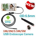 Android Phone Micro USB Endoscope Camera 5 5mm Lens 6LED Portable OTG USB Endoscope 1M 2M