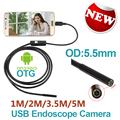 Android Phone Micro USB Endoscope Camera 5 5mm Lens 6LED Portable OTG USB Endoscope 1M 2M