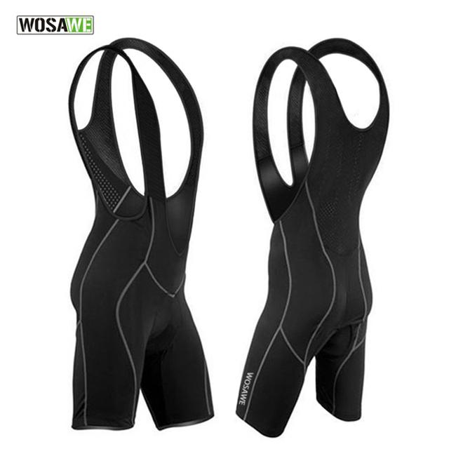 WOSAWE Men's Cycling Bib Shorts Pants Bicycle Bike Vest Shorts Chothes Cycle Wear Clothing 3D Cushion Pad Braces Tights M-3XL