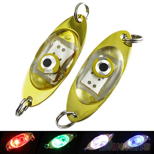 LED Deep Drop Underwater Eye Shape Fishing Squid Fish Lure Light Flashing Lamp 1N6R(China (Mainland))