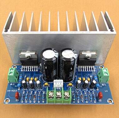 Free shipping AC12-32V 2.0 channel TDA7293 100+100W HIFI Digital Stereo Audio Amplifier Board With Cable(China (Mainland))
