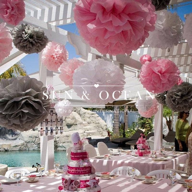 (30cm) 12 inch Handmade 20 colors Wedding Paper Flowers Ball Pom Poms For Wedding & Home Decoration(China (Mainland))