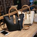 Women Leather Handbags Golden Shoulder Bags Fashion Lash Package Tote