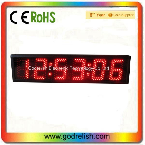outdoor 5 inch 7-segment 6 digit red digital wall led countdown timer - Godrelish timer,led clock,led counter,led display store