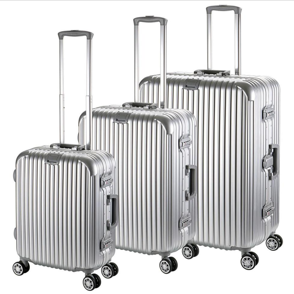 20 inch24 inch29 inch 3pcs/sets Luxury Aluminum frame+PC TSA Hardside Rolling Spinner trolley case travel Suitcase wheels Luggage Sets - Miles'shop store