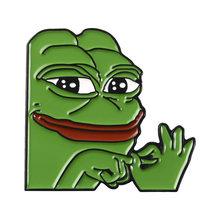 2019 di trasporto del nuovo creativo del fumetto spilla rana divertente serie spilla distintivo in lega di uomini e sacchetto dei monili di modo delle donne del cappello pin a gli amici i regali(China)