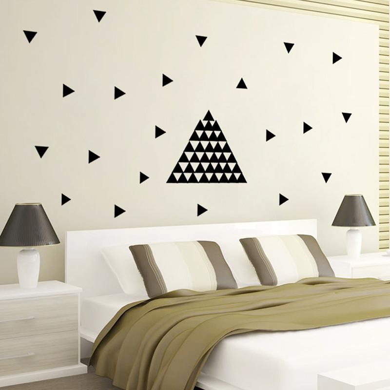 2016 baby kids nursery 154pcs triangle for diy wall decals vinilos infantiles room modern - Modern kids wall decor ...