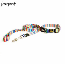 Free Shipping pet collar and leash set Nylon Rainbow Cat Dog Pet dog Collar & Leads High Quality for Chihuahua Poodle Pitbull(China (Mainland))