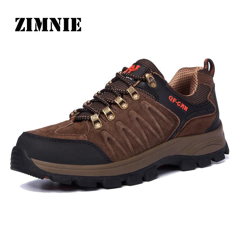 hiking shoes waterproof suede pu leather outdoor boots new