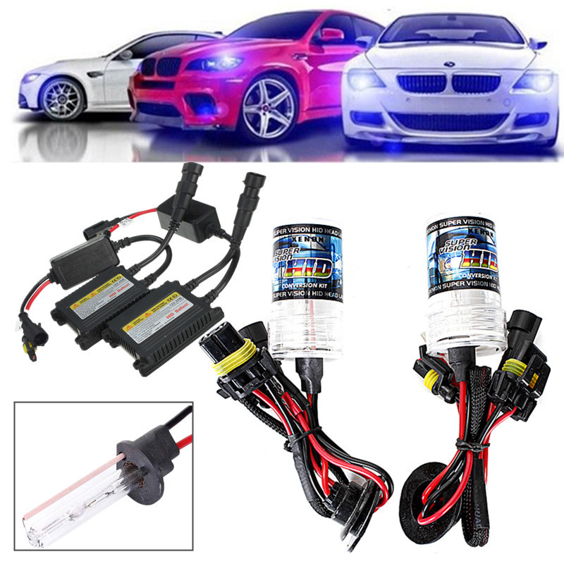 High Quality 35W H10 5000K 3200lm White Light Car Slim Replacement Conversion Xenon HID Ballast Sets #DC230(China (Mainland))