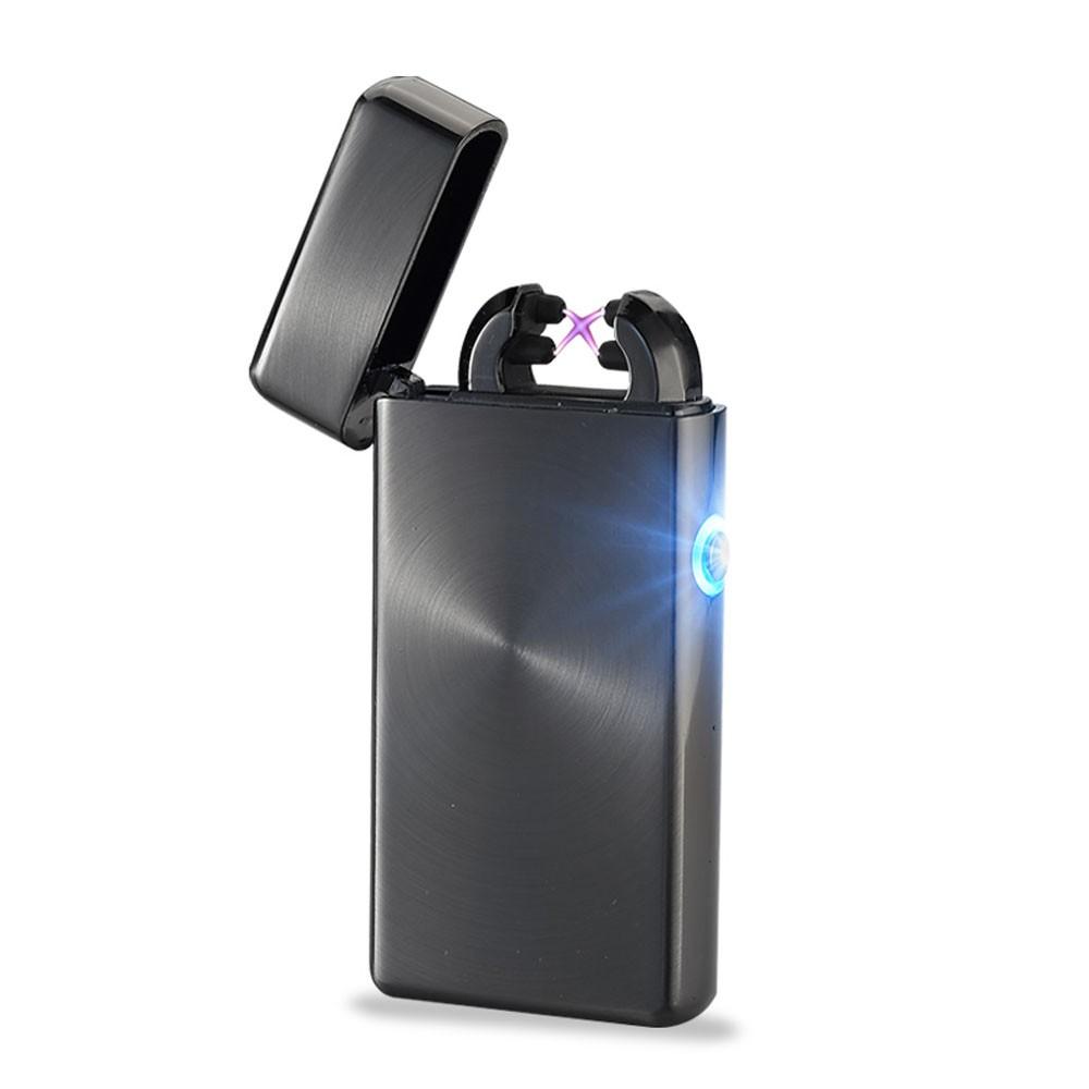 ถูก 10ชิ้นจำนวนมากของขวัญที่ดีที่สุดสำหรับเพื่อนเบาUsbไฟฟ้าArcไฟแช็คชีพจรคู่บางเบาไม่มีก๊าซเบา