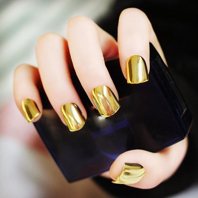 Металлопокрытия Ложные Французские Акриловые Советы Ногтей Без Клея Ногтя Красоты Ногтей Для Повелительницы Светло-желтый N05