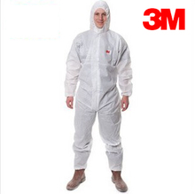 3M Disposable Protective Coveralls 4515 white Hooded one piece protective gear particulate matter liquid for Pesticide/spray(China (Mainland))