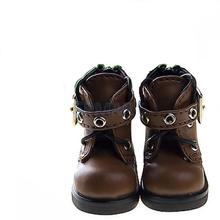Free Shipping 1/6 BJD Shoes Back Zip Ankle Boots Fit Yo-SD DOD LUTS m01 - Brown(China (Mainland))