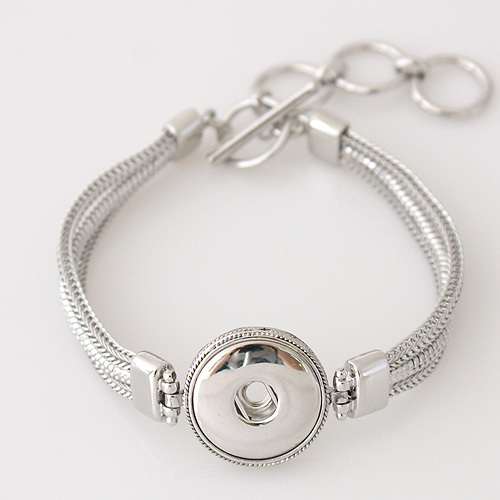 Best seller High quality Interchangeable snap bracelets jewelry for 18-20mm snaps fit ginger snaps KB3337