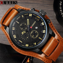 Buy 2017 Curren Mens Watches Top Brand Luxury Leather Quartz Watch Men Fashion Casual Sport Clock Men's Wristwatch Relogio Masculino for $13.99 in AliExpress store