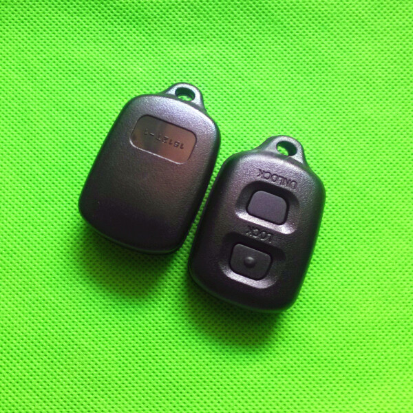 2pcs replacement fits toyota camry corolla rav4 avensis 2 button remote key case shell fob. Black Bedroom Furniture Sets. Home Design Ideas