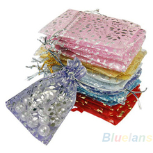 25pcs/set Organza Jewelry Wedding Gift Pouch Bags 7x9cm 3X4 Inch Mix Color for Party Holiday New Year Use 02IP